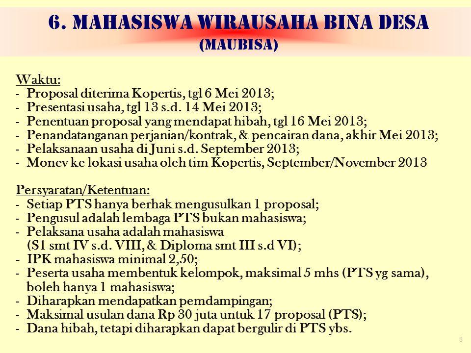 6. MAHASISWA WIRAUSAHA BINA DESA