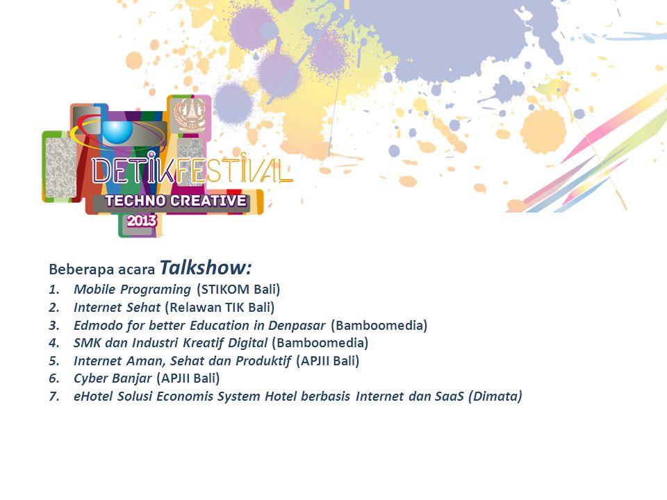 Beberapa acara Talkshow:
