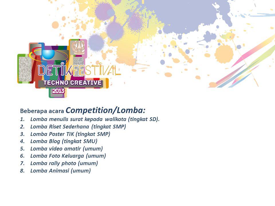 Beberapa acara Competition/Lomba: