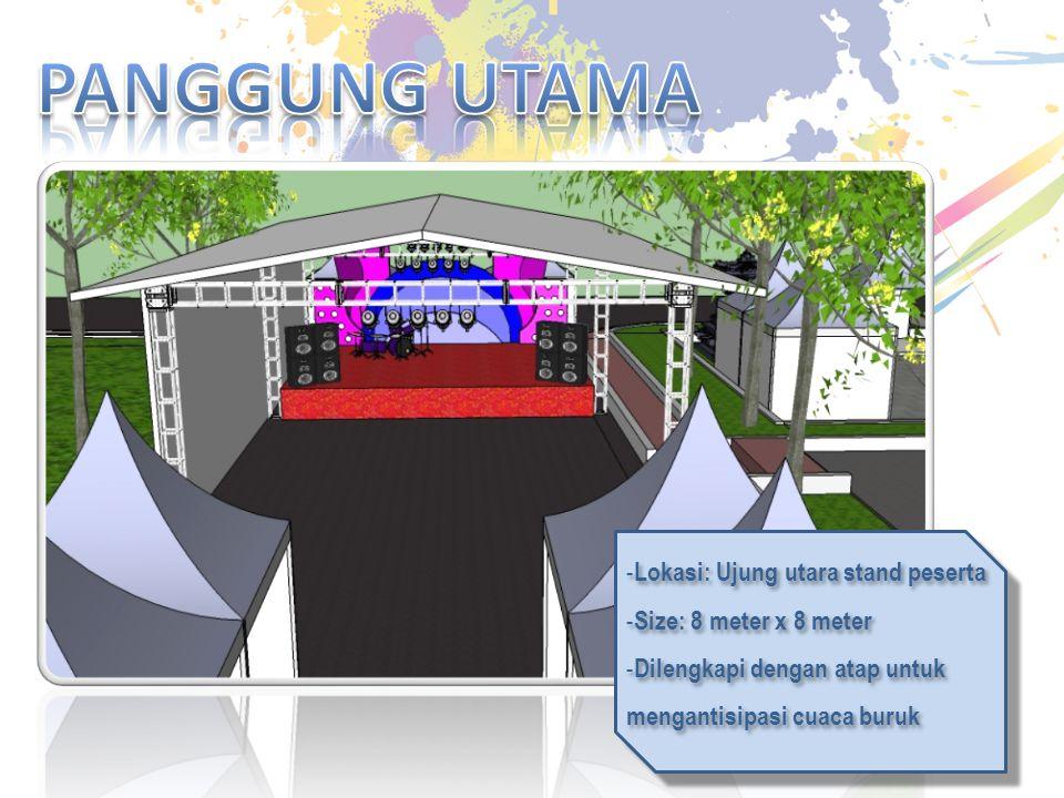 PANGGUNG UTAMA Lokasi: Ujung utara stand peserta