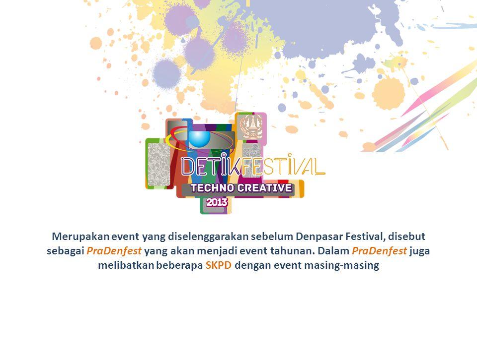 Merupakan event yang diselenggarakan sebelum Denpasar Festival, disebut sebagai PraDenfest yang akan menjadi event tahunan.