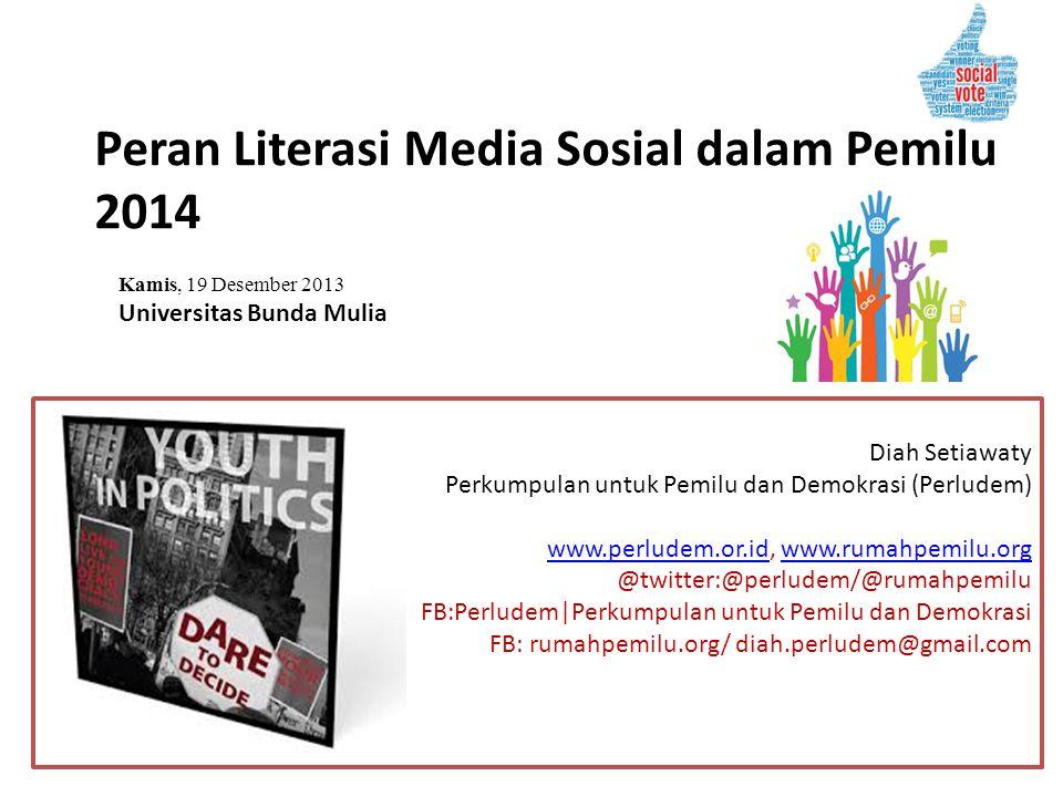 Peran Literasi Media Sosial dalam Pemilu 2014