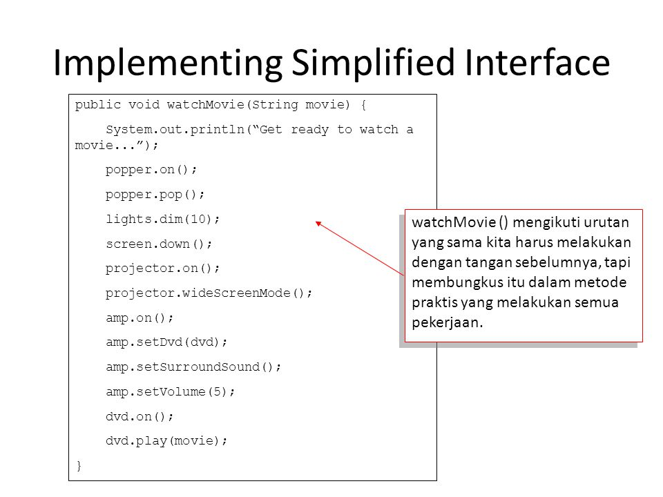 Implementing Simplified Interface