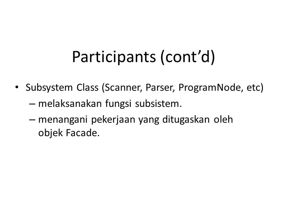 Participants (cont'd)