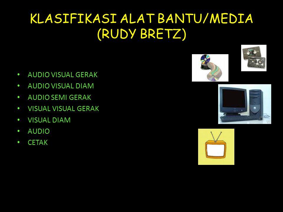 KLASIFIKASI ALAT BANTU/MEDIA (RUDY BRETZ)