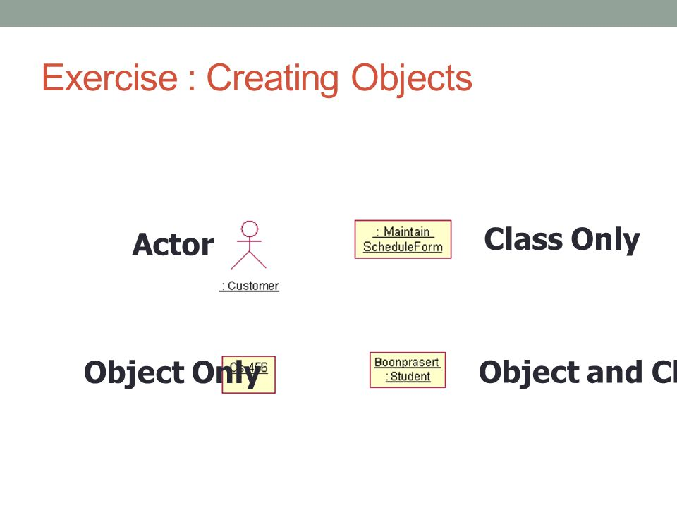 Exercise : Creating Objects