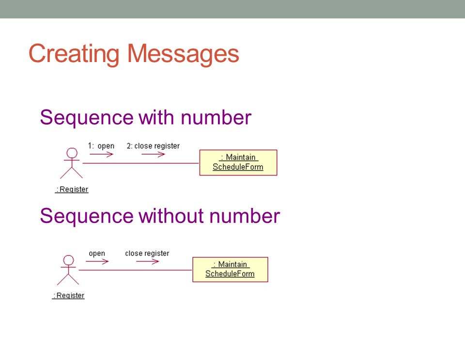 Creating Messages Sequence with number Sequence without number