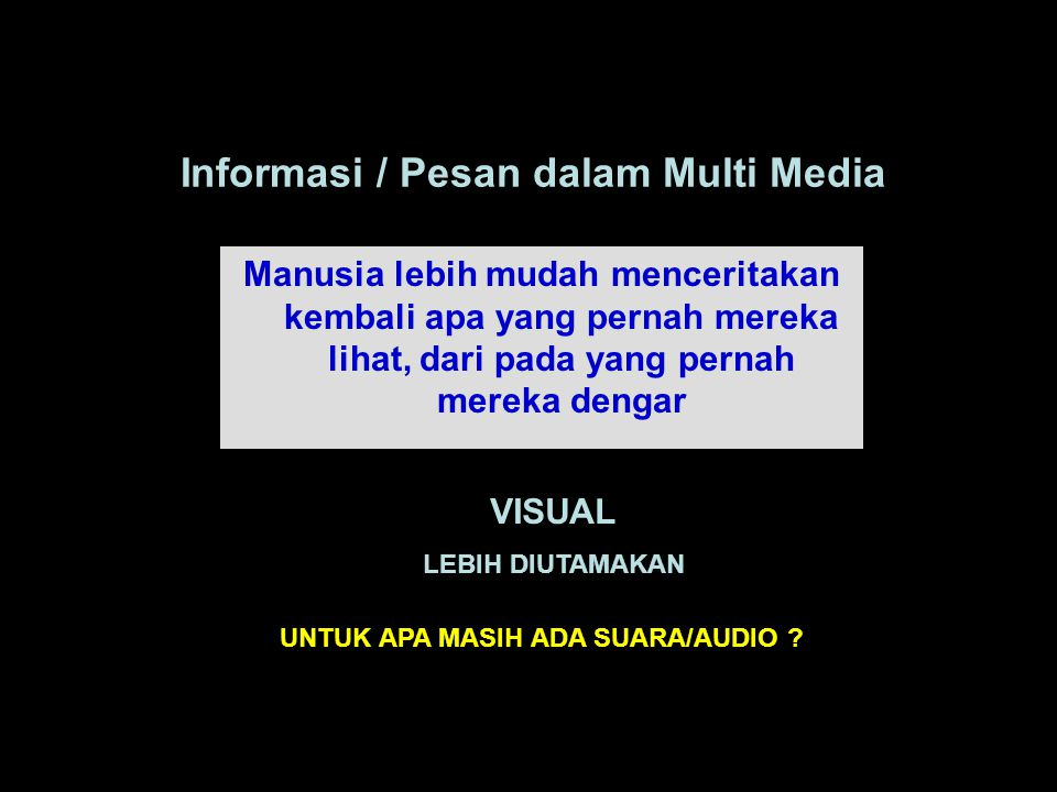 Informasi / Pesan dalam Multi Media