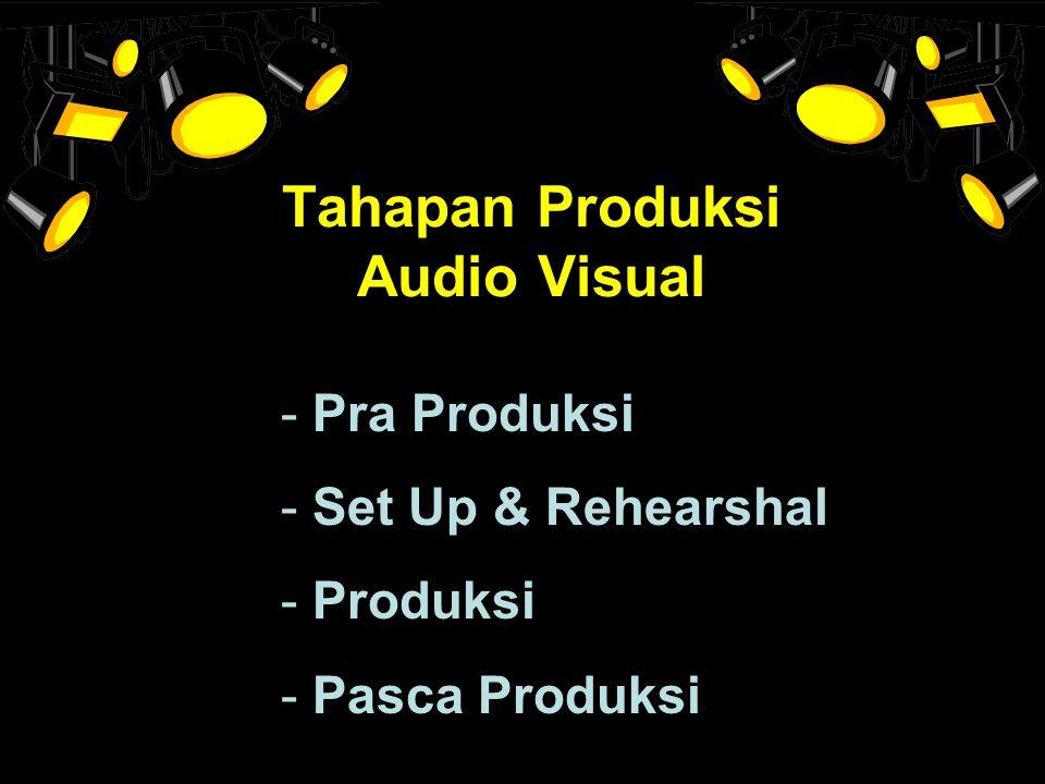 Tahapan Produksi Audio Visual