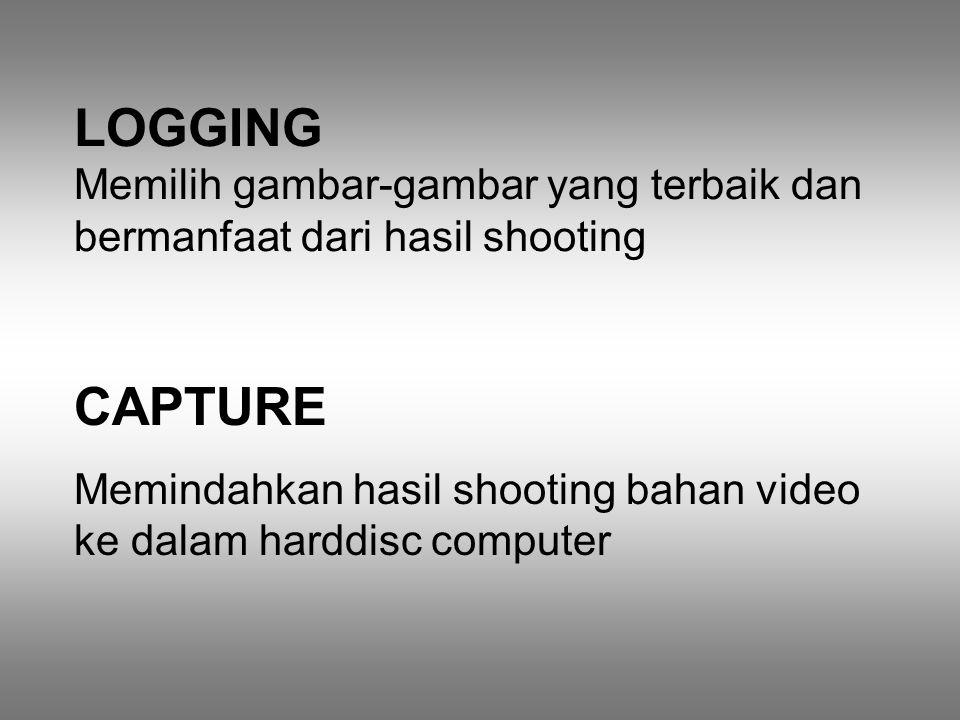 LOGGING Memilih gambar-gambar yang terbaik dan bermanfaat dari hasil shooting