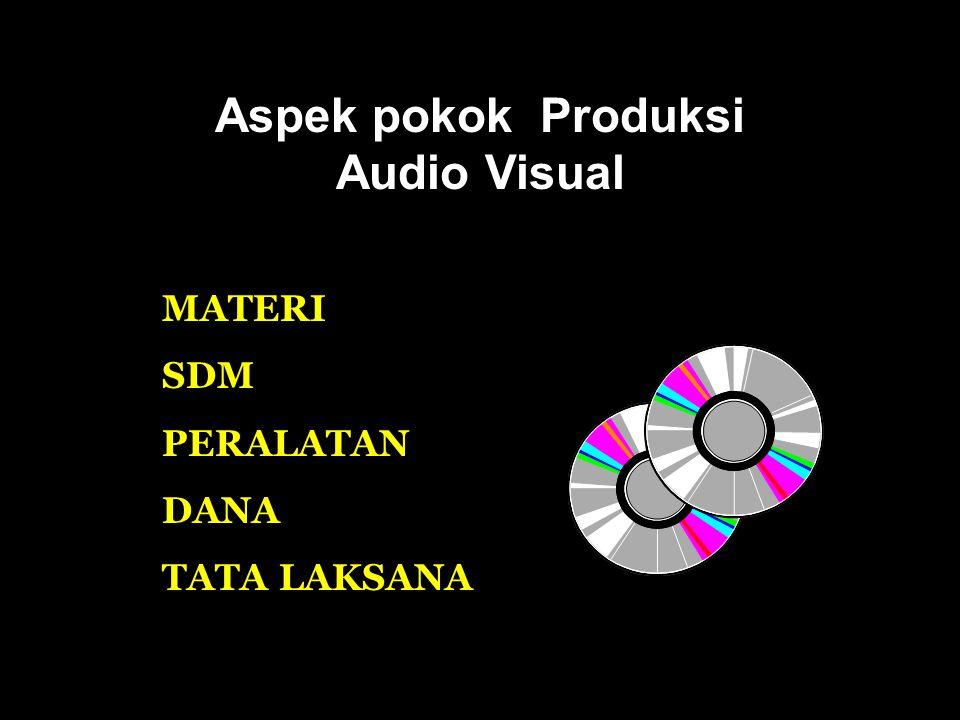 Aspek pokok Produksi Audio Visual
