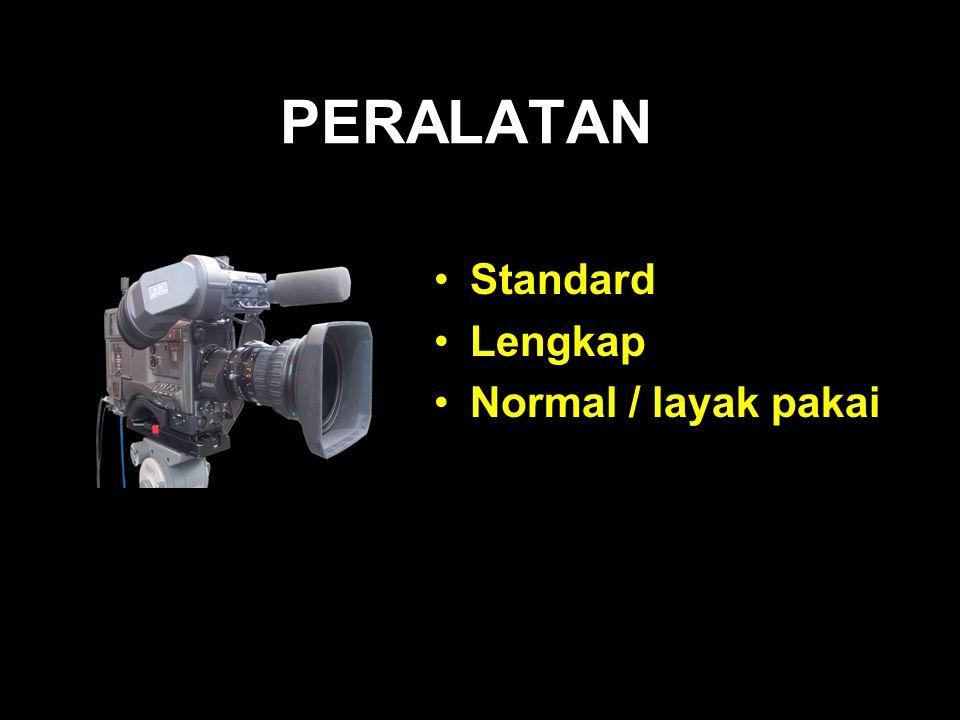 PERALATAN Standard Lengkap Normal / layak pakai