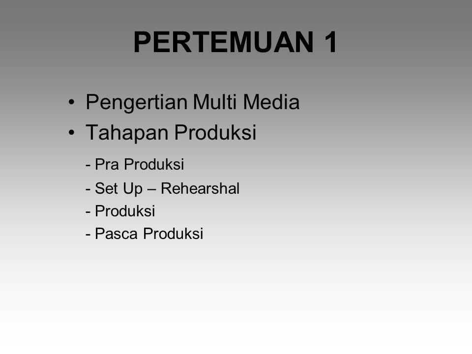 PERTEMUAN 1 Pengertian Multi Media Tahapan Produksi - Pra Produksi