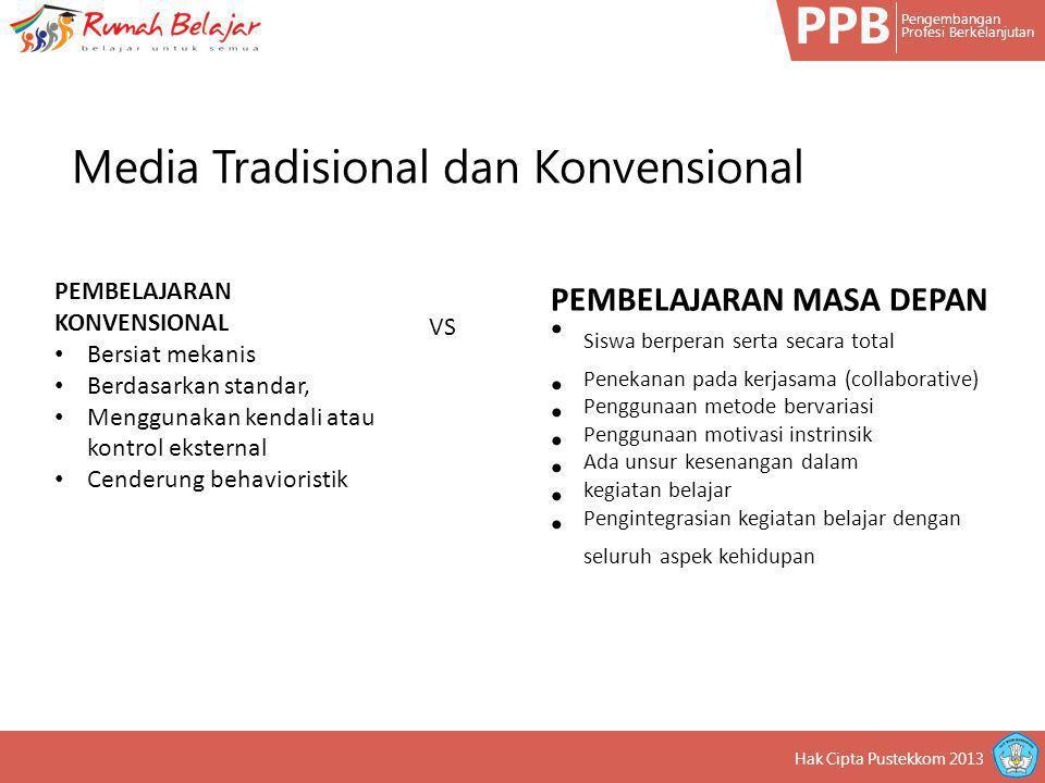 PPB Media Tradisional dan Konvensional PEMBELAJARAN MASA DEPAN
