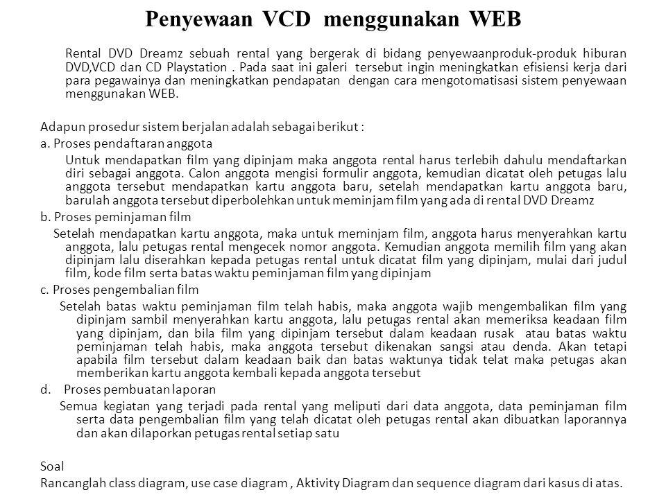 Penyewaan VCD menggunakan WEB