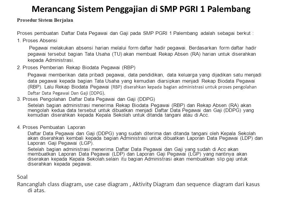 Merancang Sistem Penggajian di SMP PGRI 1 Palembang