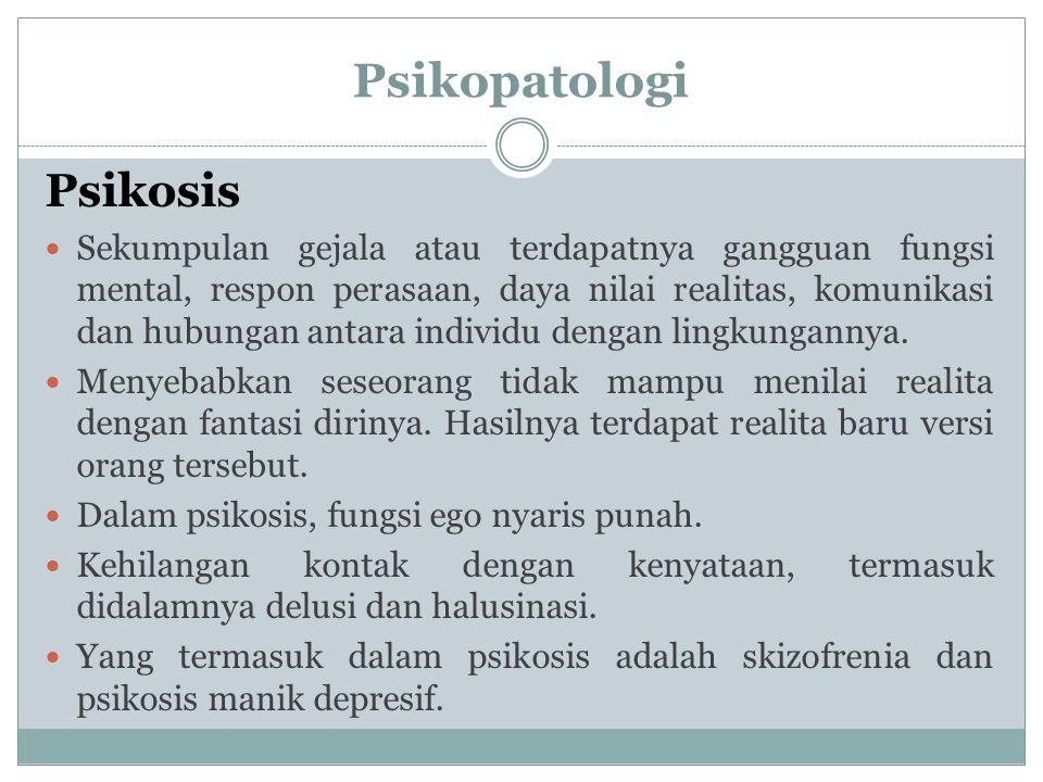 Psikopatologi Psikosis