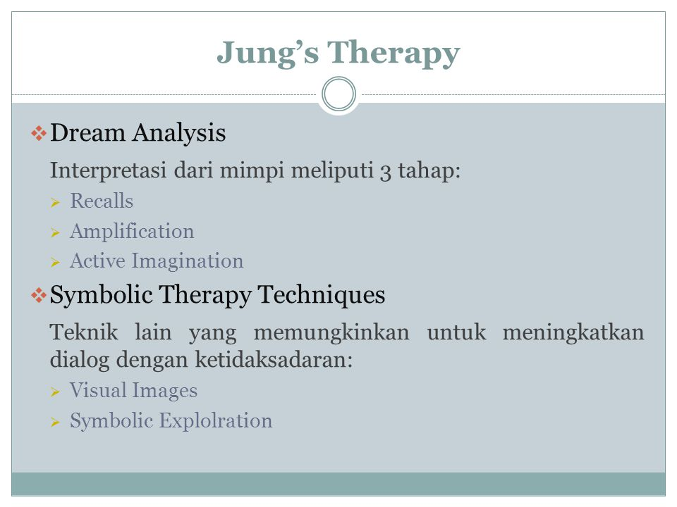 Jung's Therapy Dream Analysis