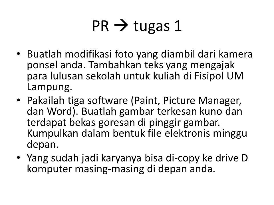 PR  tugas 1