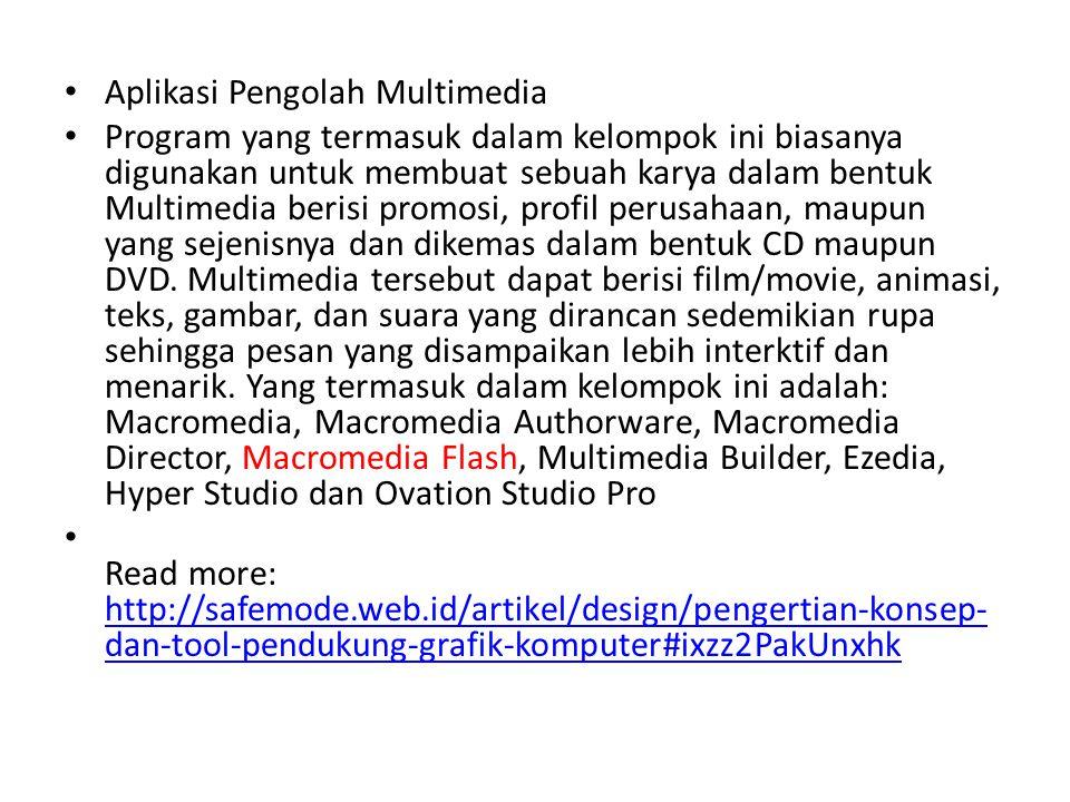 Aplikasi Pengolah Multimedia