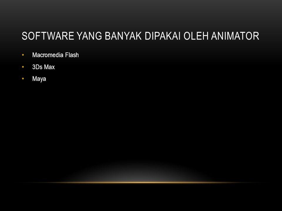 Software yang banyak dipakai oleh animator