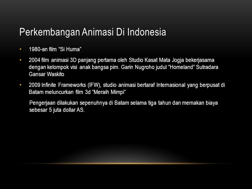 Perkembangan Animasi Di Indonesia