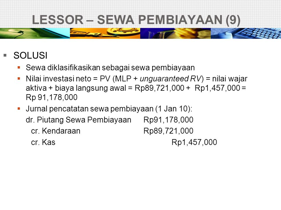 LESSOR – SEWA PEMBIAYAAN (9)