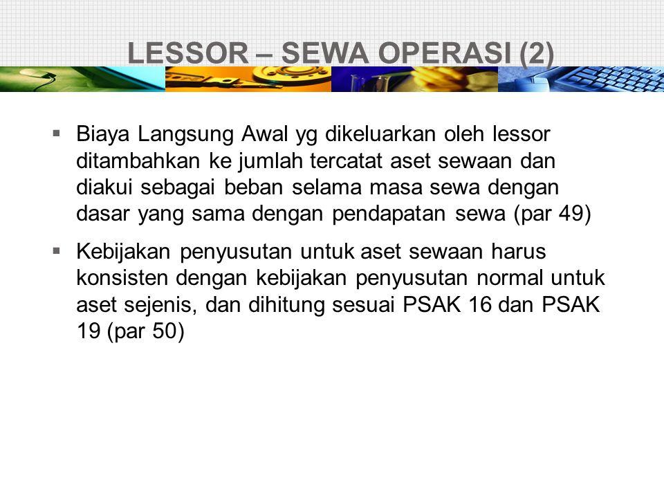 LESSOR – SEWA OPERASI (2)
