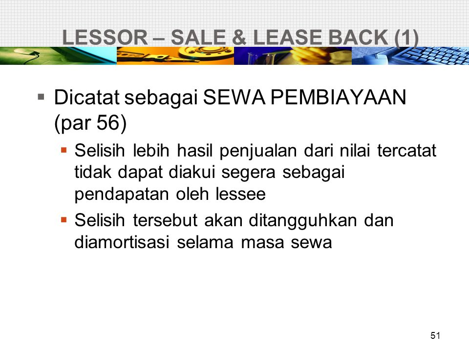 LESSOR – SALE & LEASE BACK (1)
