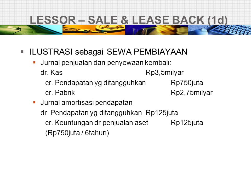LESSOR – SALE & LEASE BACK (1d)