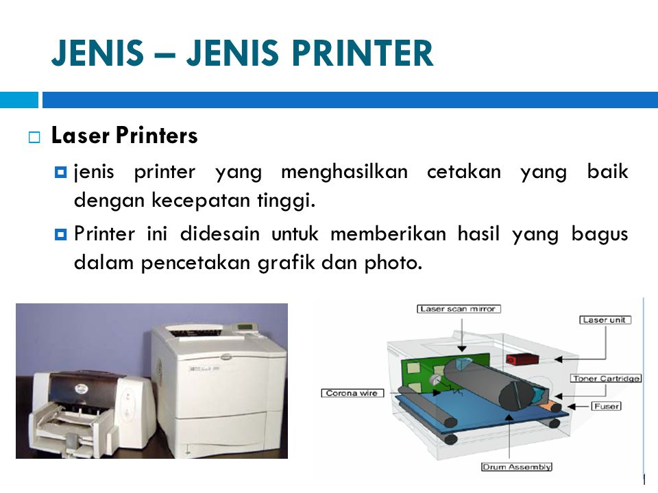 JENIS – JENIS PRINTER Laser Printers