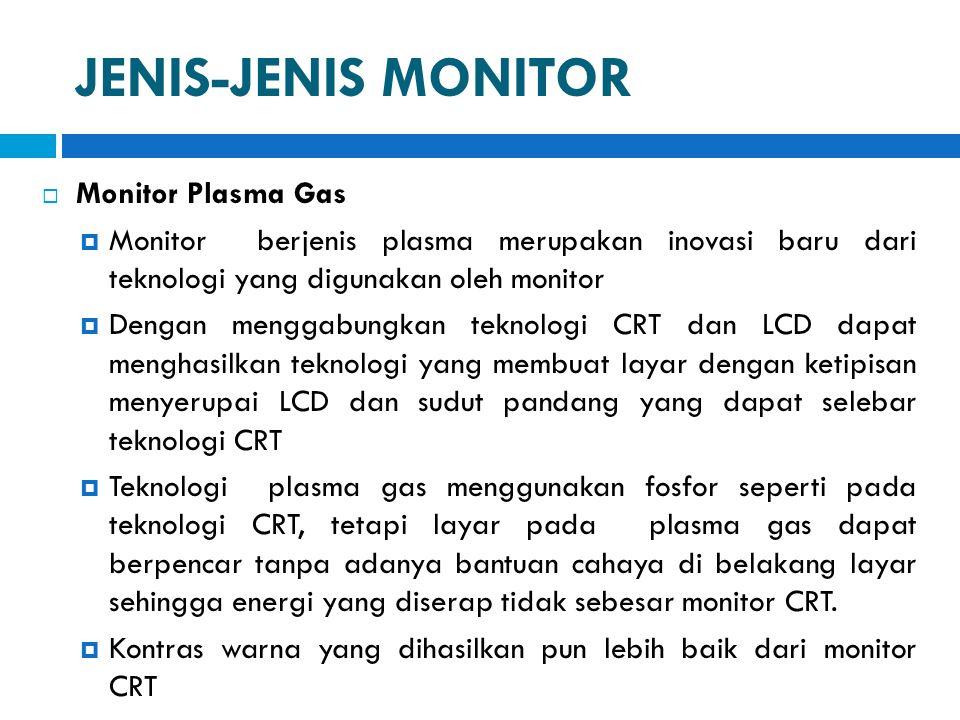 JENIS-JENIS MONITOR Monitor Plasma Gas