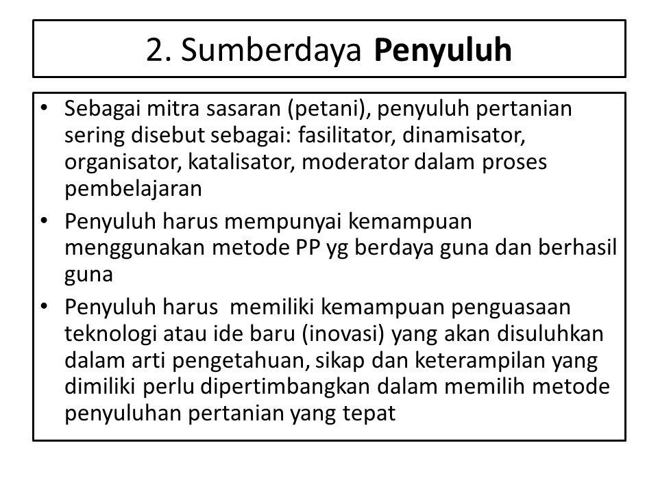 2. Sumberdaya Penyuluh