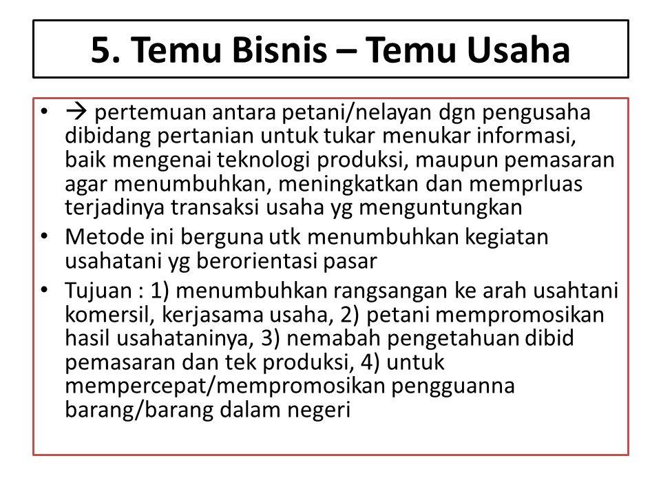 5. Temu Bisnis – Temu Usaha