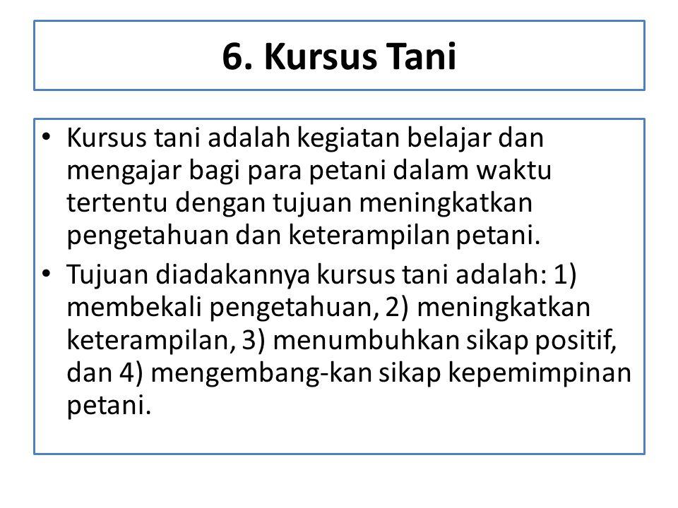6. Kursus Tani