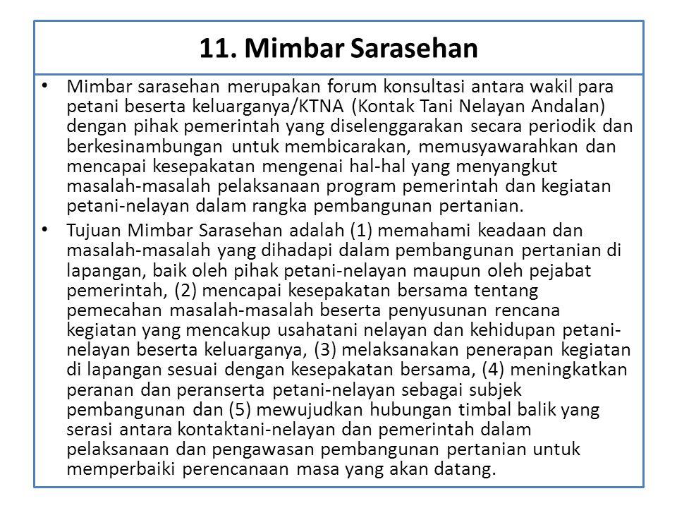11. Mimbar Sarasehan