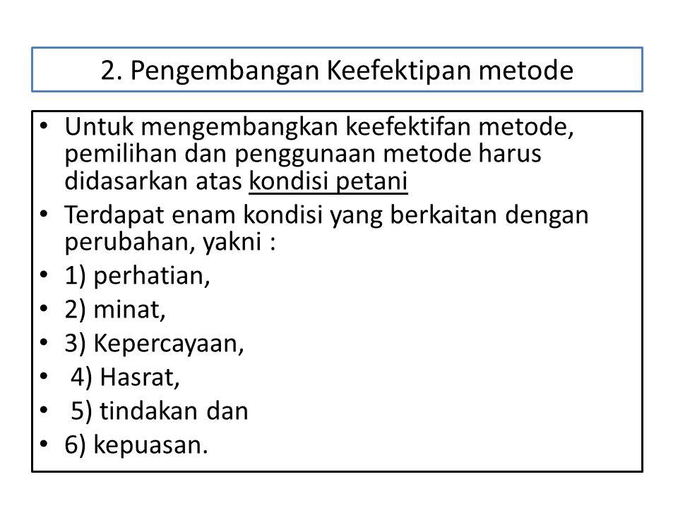 2. Pengembangan Keefektipan metode
