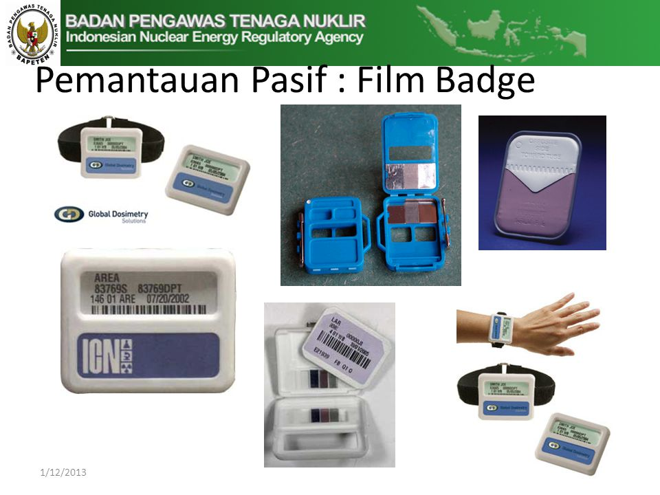 Pemantauan Pasif : Film Badge