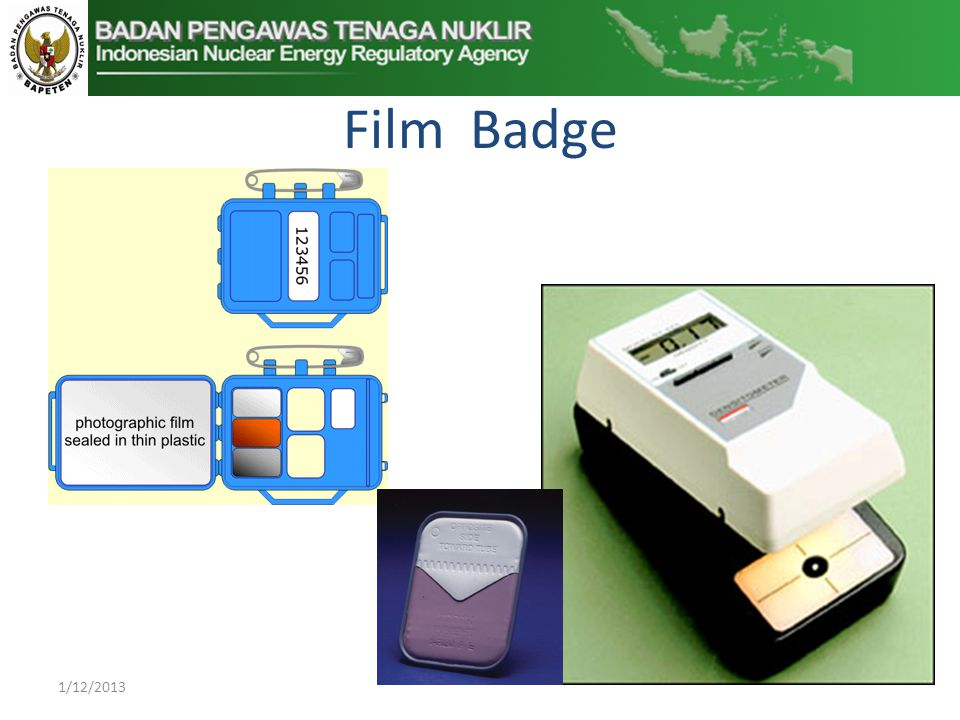 Film Badge 1/12/2013