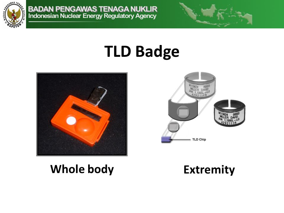 TLD Badge Whole body Extremity