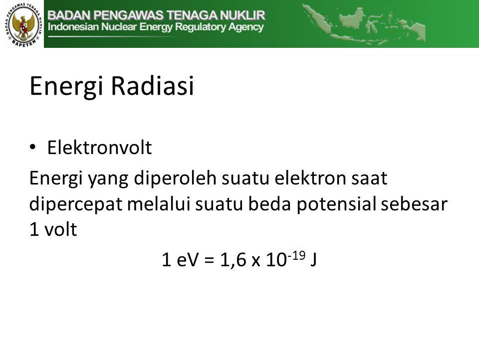Energi Radiasi Elektronvolt