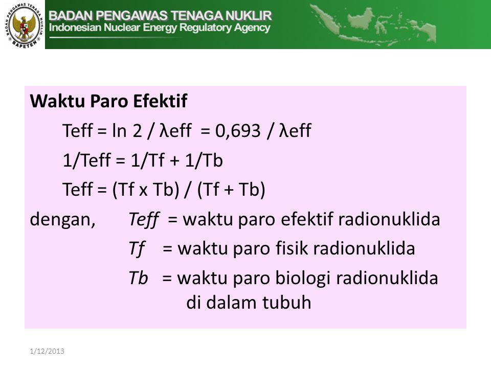 Teff = (Tf x Tb) / (Tf + Tb)