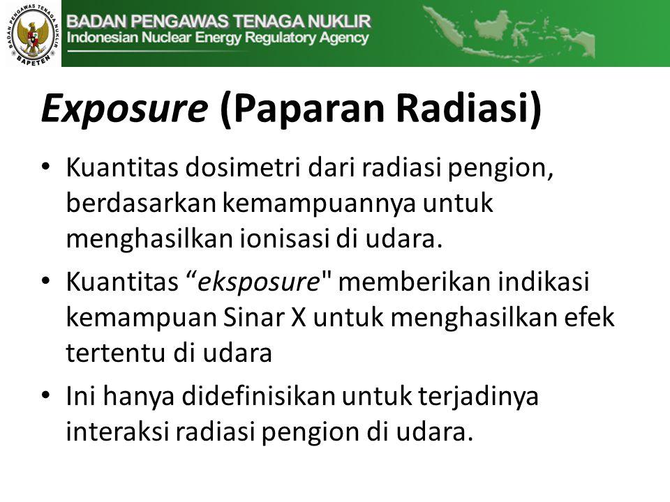 Exposure (Paparan Radiasi)
