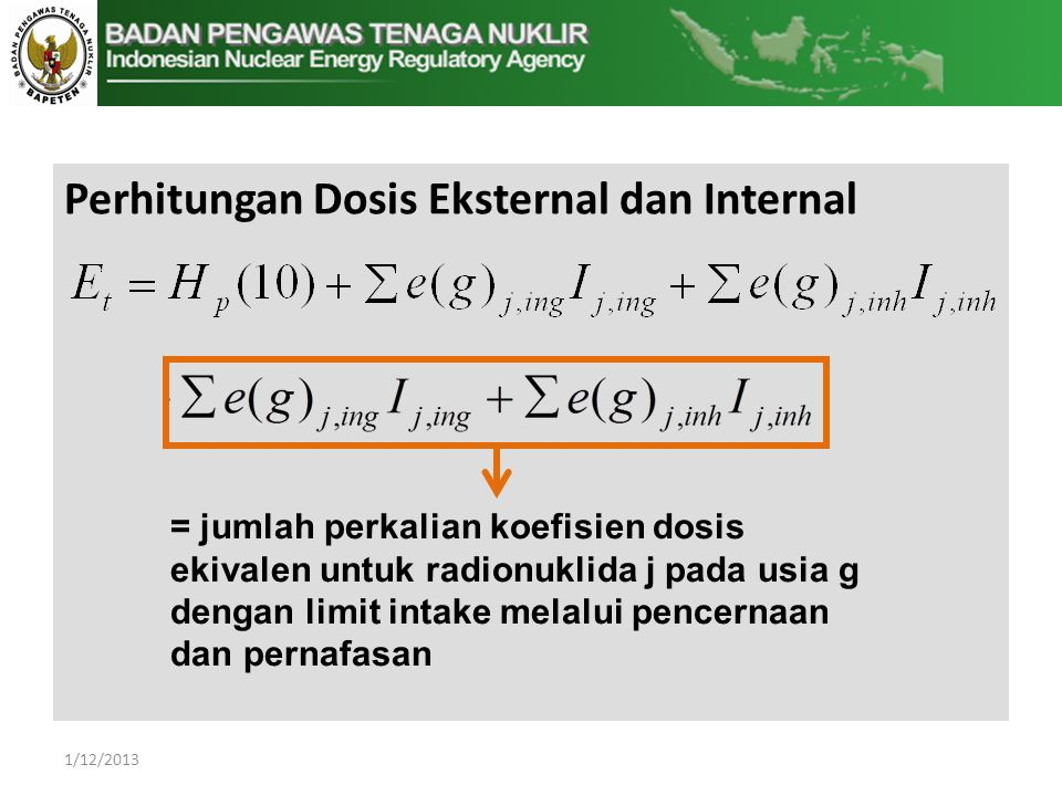 Perhitungan Dosis Eksternal dan Internal