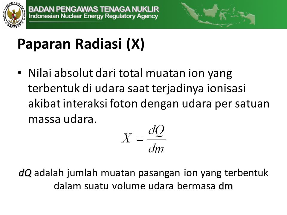 Paparan Radiasi (X)