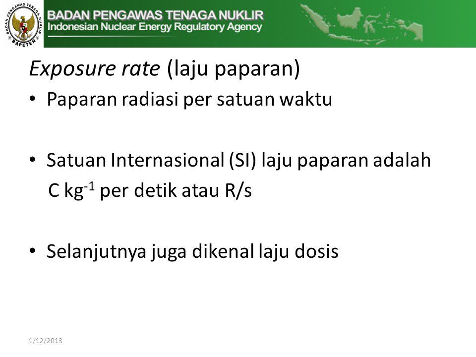 Exposure rate (laju paparan)
