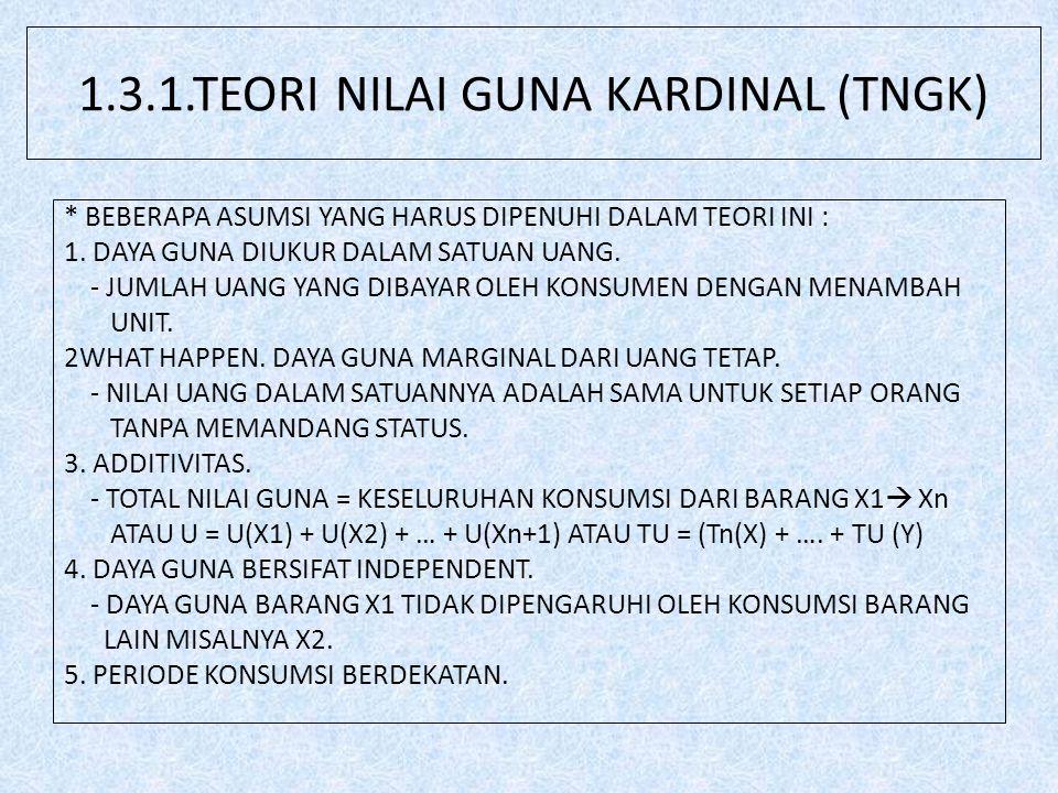 1.3.1.TEORI NILAI GUNA KARDINAL (TNGK)