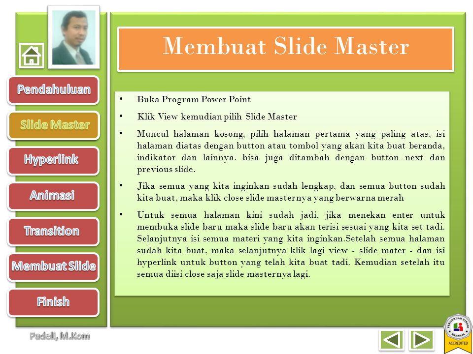 Membuat Slide Master Buka Program Power Point