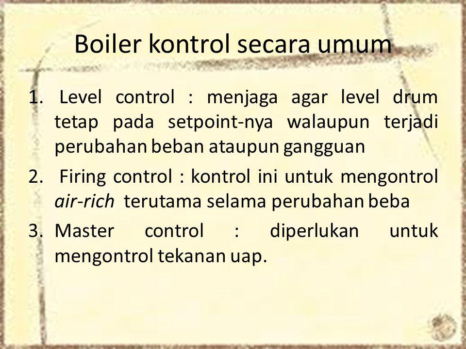 Boiler kontrol secara umum