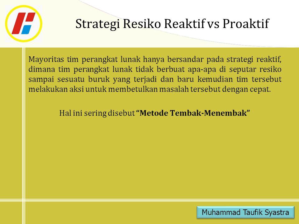 Strategi Resiko Reaktif vs Proaktif